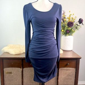 Tart ruched gathered bodycon stretchy long sleeve